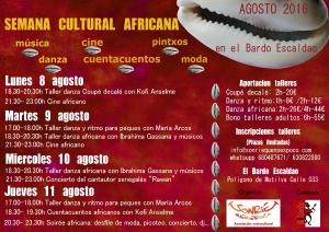 Cartel Semana africana 3