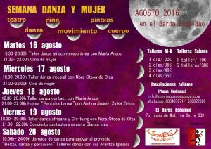Cartel Semana danza y mujer 4